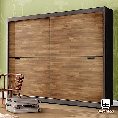 漢妮Hampton路易士系列 7 尺拉門衣櫥- 210 x 59 x 197 . 7 cm