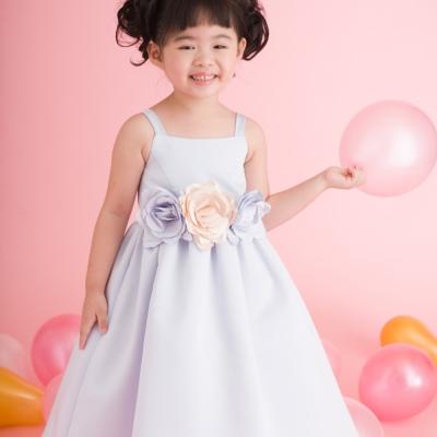 【Lovin` Sweetii】喜洋洋小公主童洋裝~粉藍色限量款