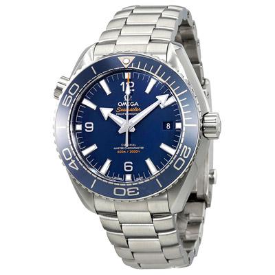 OMEGA歐米茄 600米海馬藍面銀字同軸擒縱潛水腕錶/43.5mm