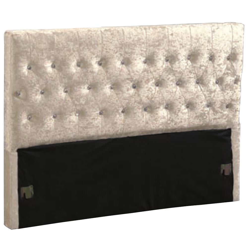 愛比家具 安娜5尺絨布水鑽床頭片(兩色可選)
