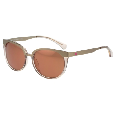 Calvin Klein- 復古雙色太陽眼鏡(金+果凍粉)