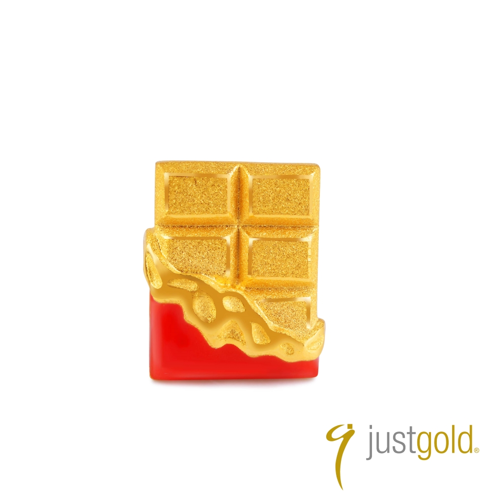 鎮金店Just Gold 黃金單耳耳環- 繽紛派對(巧克力)