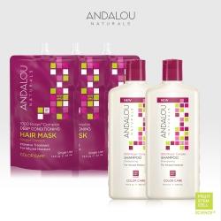 ANDALOU安德魯 千朵玫瑰洗護髮系列(護色洗髮精x2+保濕護髮膜x3)