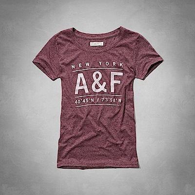 AF a&f Abercrombie & Fitch 女 短袖 T恤 紅 0785