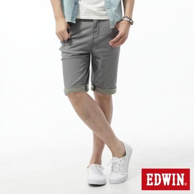 EDWIN 大尺碼迦績褲 舒適色褲短褲-男-淺灰色