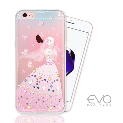 EVO CASE iphone 6s Plus 奧地利水晶彩繪防摔手機鑽殼-蝴蝶...