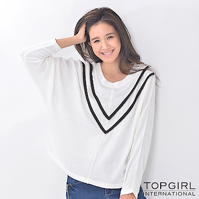 【TOPGIRL】造型寬版針織衫-共兩色