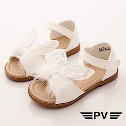 PV日系私藏 蕾絲小兔耳朵涼鞋款 EI534白(中小童段)
