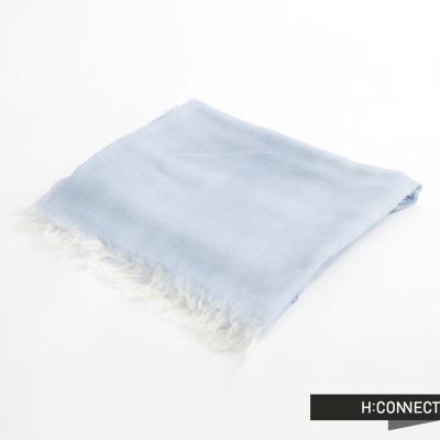 H-CONNECT-韓國品牌-女裝-柔紡流蘇絲巾-藍