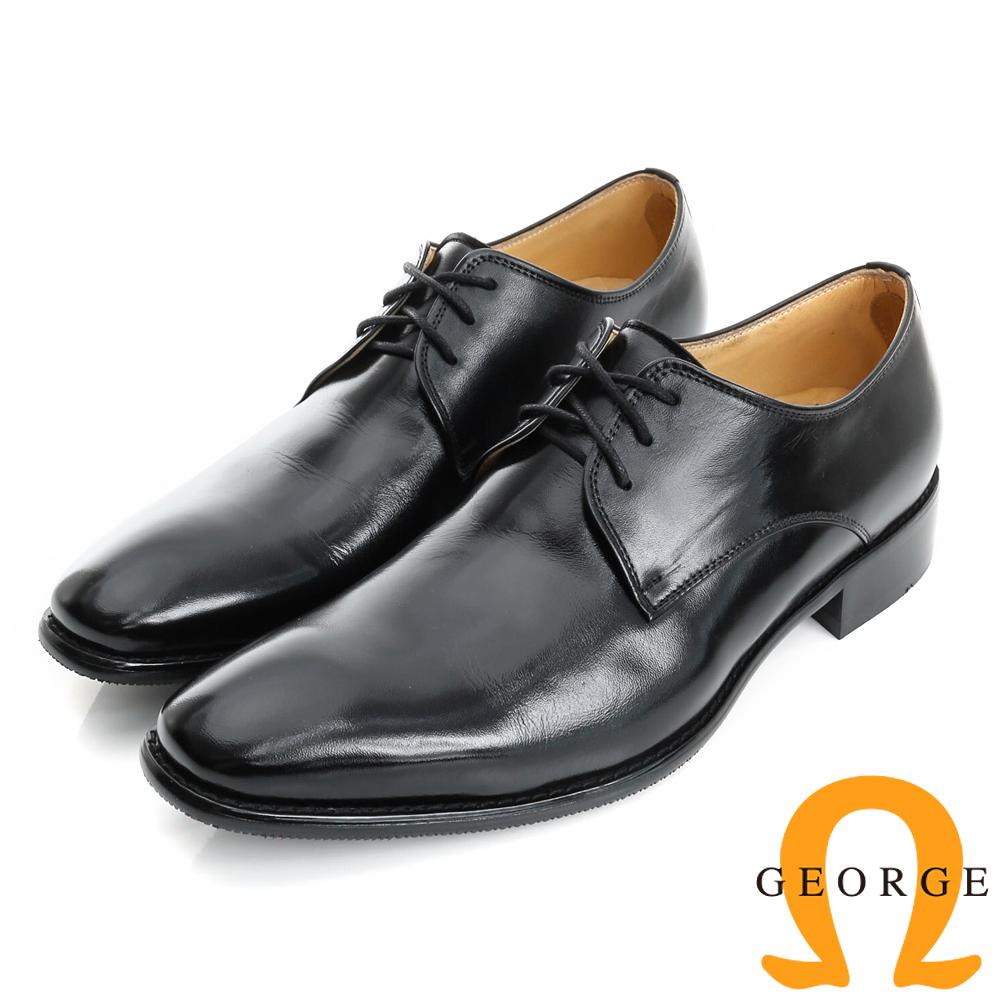GEORGE 喬治-手工紳士鞋系列 牛皮綁帶紳士皮鞋(男)-黑色
