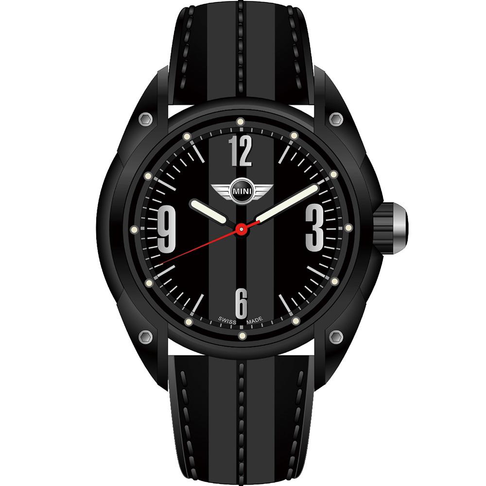 MINI Swiss Watches   休閒運動腕錶-黑/45mm