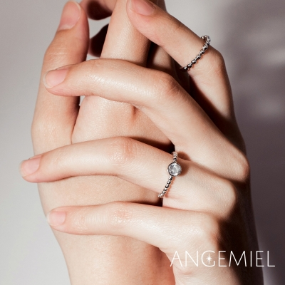 Angemiel安婕米 925純銀戒指組合 願你幸福