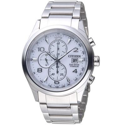 CITIZEN 超級鈦時尚計時錶(CA0650-82A)-銀/42mm