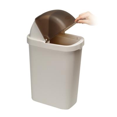 【創意達人】 典雅掀蓋式垃圾資源回收二用桶2入
