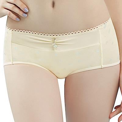 思薇爾 朵朵雲輕甜風系列M-XL印花中低腰平口內褲(奶酪黃)