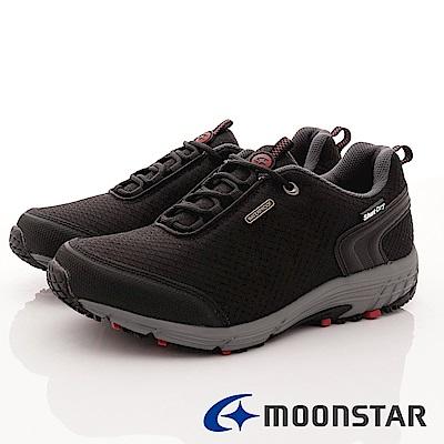 日本Moonstar戶外健走鞋-銀離子4E寬楦款-DM026黑(男段)