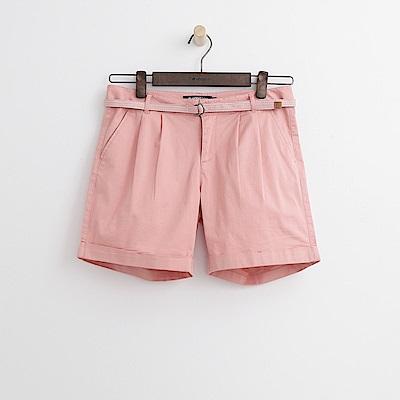 Hang Ten - 女裝 - 小反摺腰帶短褲-粉色