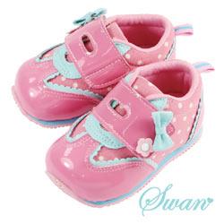 Swan天鵝童鞋-可愛點點鏡面機能鞋1489-桃