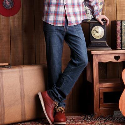 WHALE-JEANS-男款簡約伸縮舒適牛仔褲