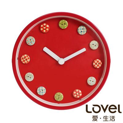 Lovel 16cm童趣水果糖鋁框靜音壁掛時鐘(A736FL-PK)