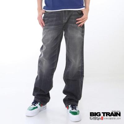 BIG TRAIN-日式亮片繡垮褲-黑灰