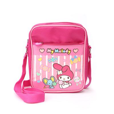 《Sanrio》美樂蒂童用側肩背包(糖果)