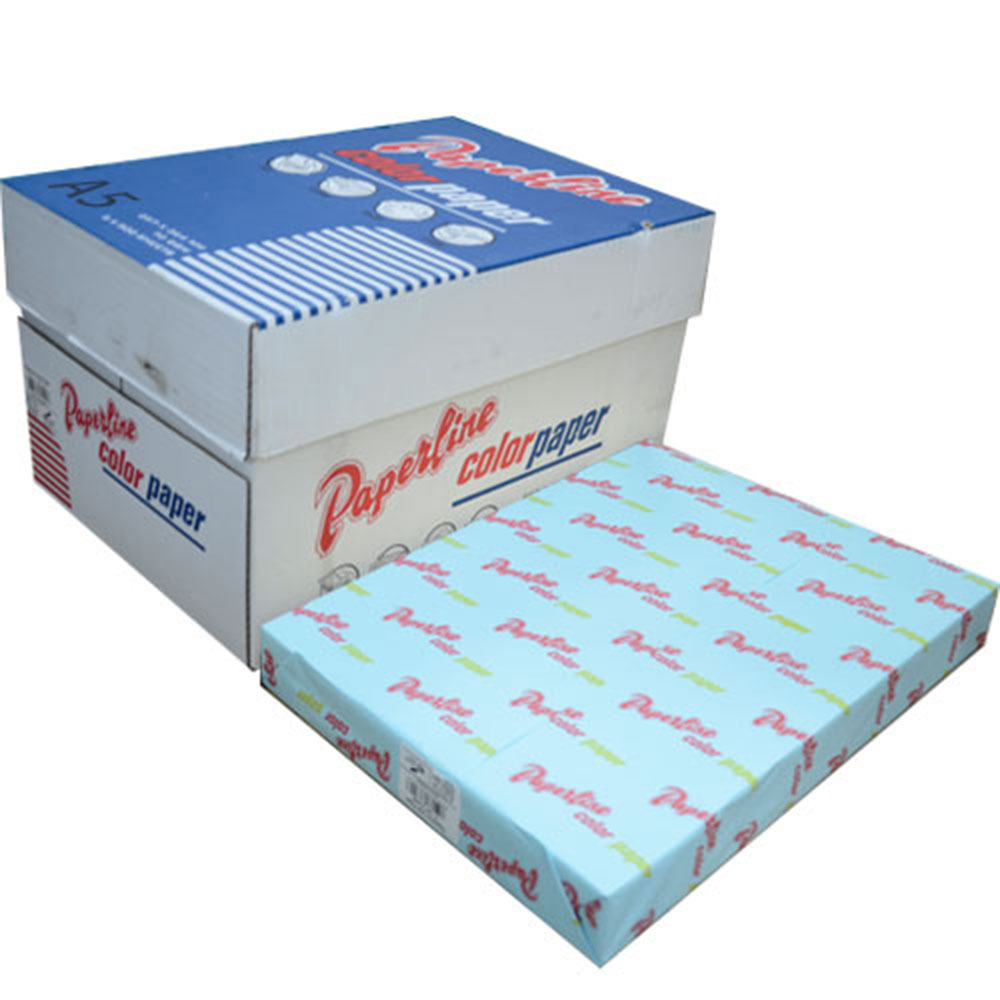 【PAPERLINE】120 / 70P / A5 淺藍 彩色影印紙(1包500張)