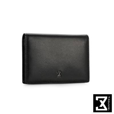 74盎司 Plain 系列平紋真皮名片夾[N-468]黑色