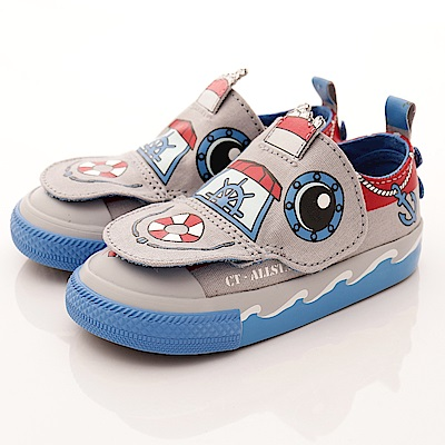 converse童鞋 航海童趣設計款58189C 灰藍(小童段)T2