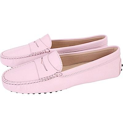 TOD'S Gommino  經典牛皮休閒豆豆鞋(女鞋/淺粉色)