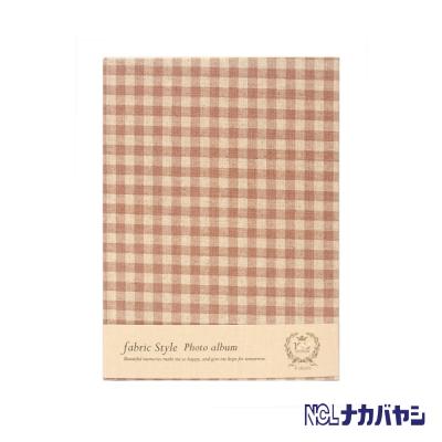 日本 Nakabayashi 自黏相本 麻布系列 日式格紋相本(黃)
