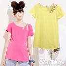 【Gennie's奇妮】造型肩帶棉質素色春夏孕婦上衣-3色可選(G3301)