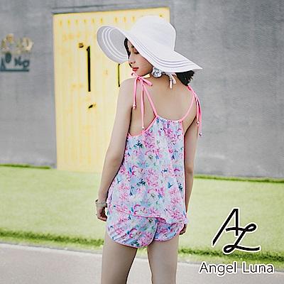 【AngelLuna】清新印花四件式比基尼泳裝(日本直送3-10天到貨)