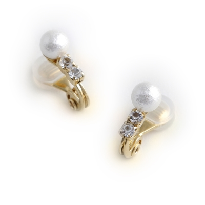 JewCas Air Earring系列雅致小巧水晶棉珍珠耳環_JC2759