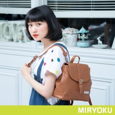 MIRYOKU 質感斜紋系列 / 飾帶休閒兩用後背包(共4色)