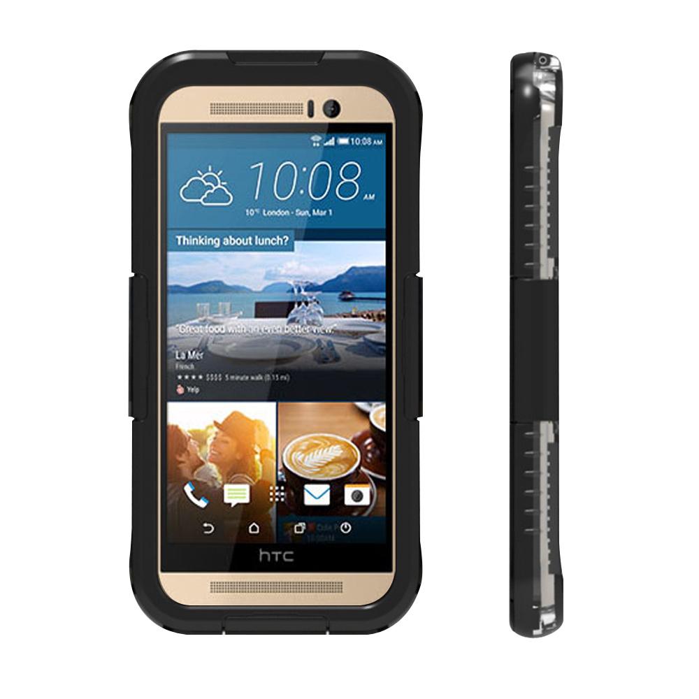 水漾Sharks box HTC M7 M8 M9 IP68級防水手機殼-黑