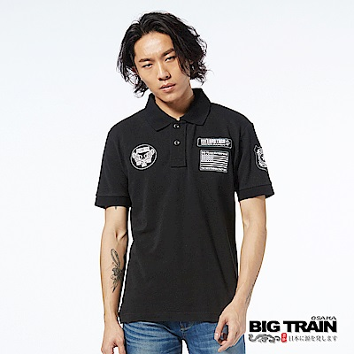 BIG TRAIN 兄弟軍標POLO衫-男-黑色