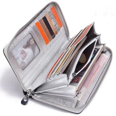 玩皮工坊-真皮十字紋牛皮12卡位大開口皮夾皮包錢包手機包長夾-LH398