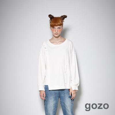 gozo 創作家率性不規則拼接上衣 (三色)