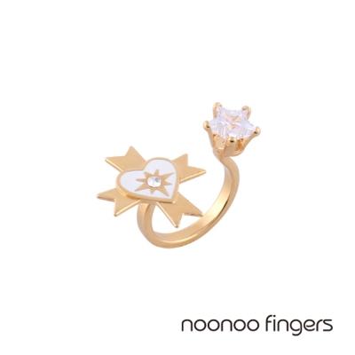 Noonoo Fingers Oscar Star 奧斯卡星星水鑽U型戒指