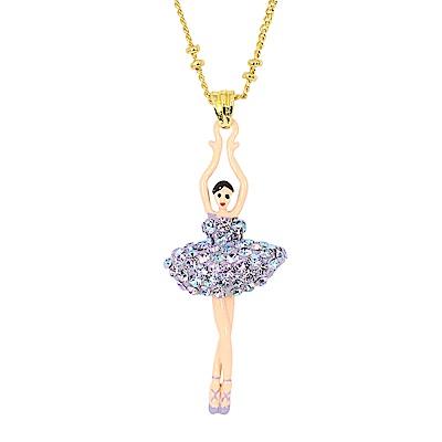 Les Nereides 優雅芭蕾舞女孩系列 閃耀水鑽芭蕾舞者項鍊 極光色