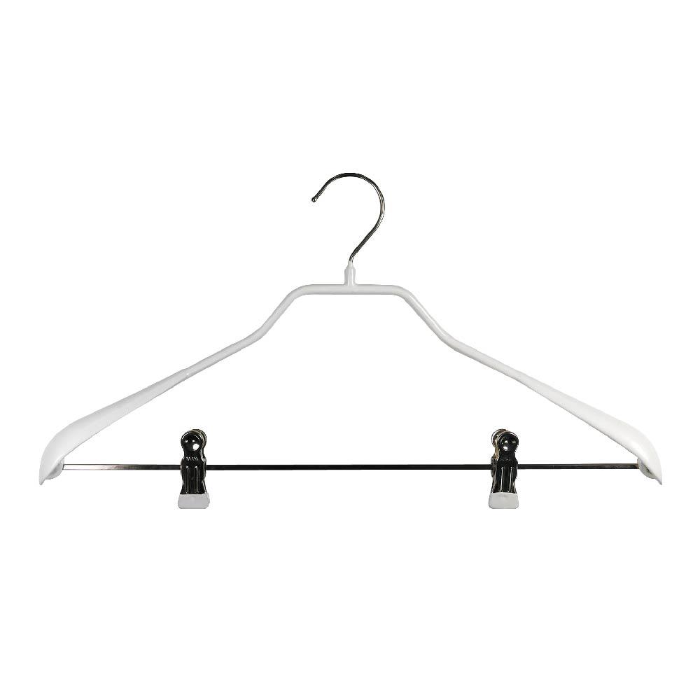 德國MAWA 套裝衣架42cm(夾)白色 (5入)