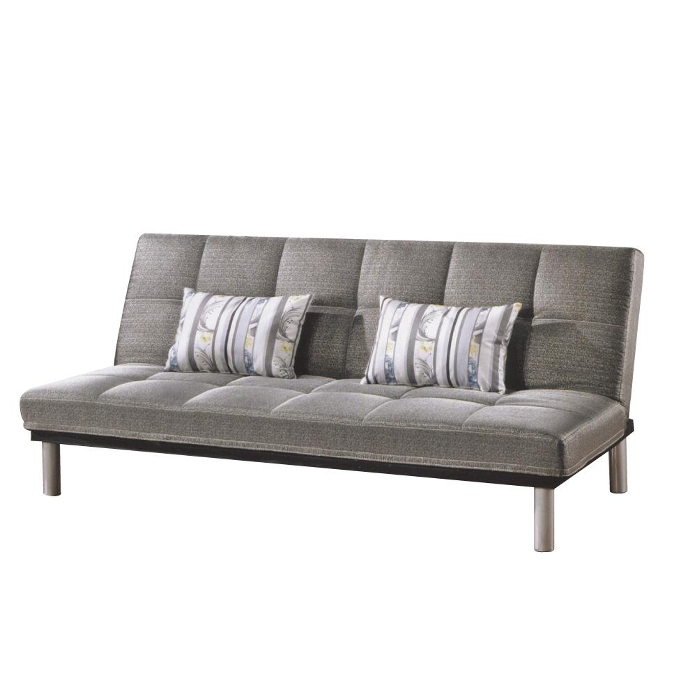 品家居 玫朵灰亞麻布展開式沙發床-190x50x85cm-免組