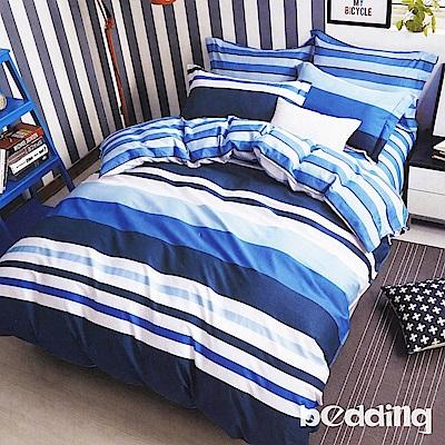 BEDDING-100%棉6尺雙人加大薄式床包三件組-安靜