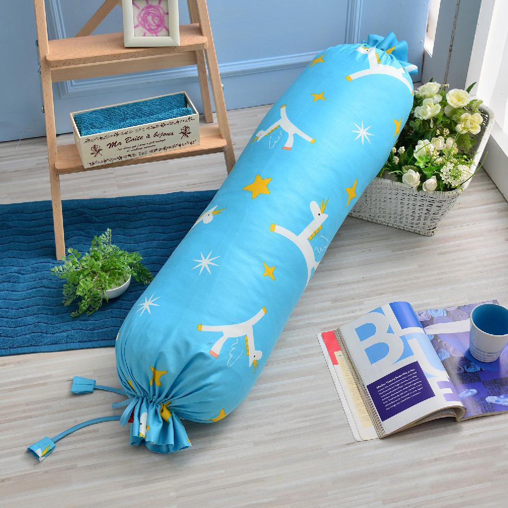 義大利Fancy Belle X Malis 小飛馬-粉藍 造型糖果枕100*25CM