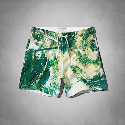 AF a&f Abercrombie & Fitch 短褲 綠色 0807