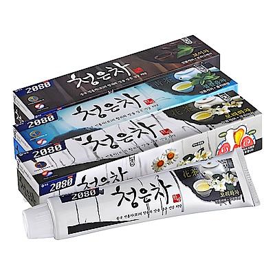 韓國2080 清齦茶 韓方護齦茶牙膏120g(花茶+青茶+黑茶) 3入組