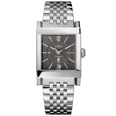 DAVOSA X-Agon 藝術家機械腕錶-鐵灰/33x42mm