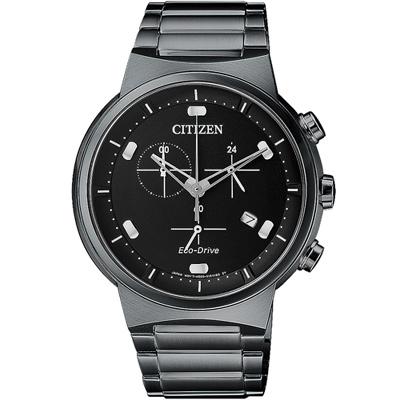 CITIZEN 星辰 夜空星辰計時腕錶(AT2405-87E)-鍍黑/41mm