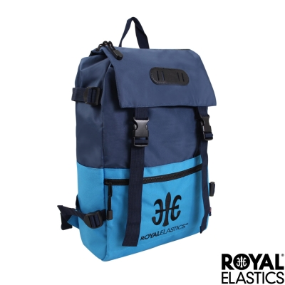 Royal Elastics - 撞色潮流休閒後背包 - Light輕盈羽量系列 - 藍